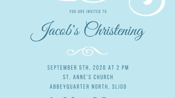 Boys Christening Card