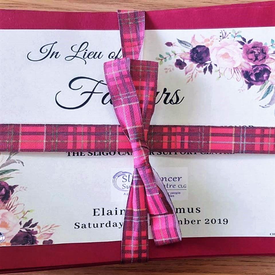 Wedding Favour Sligo Cancer Support Centre