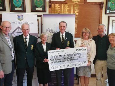 Co Sligo Golf Club Classic 2019 Cheque Presentation